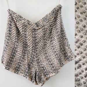 Like New  Beaded Top Shop Shorts!